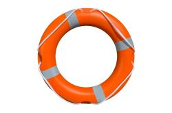 Lifebuoy  24 inch - 57 cm Lifering - Reflective Tape - High Quality Life Ring with SOLAS Tape and Grab Lines