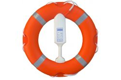 Lifebuoy & Encapsulated Throwing Line Set  -  Orange Lifering & encapsulated floating line available in both 24 inch (57cm) &  30 inch (75cm) with reflective tape