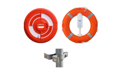 Lifebuoy, Line, Cabinet with Doors & Rail Clamps  -Includes Tamper Seal and Life Ring User Instructions -  Integrated SET 3B